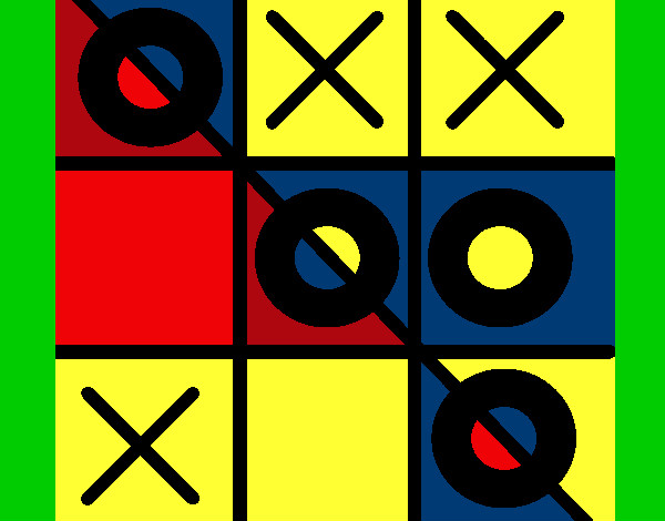 Coloring page Tic-tac-toe painted bymack