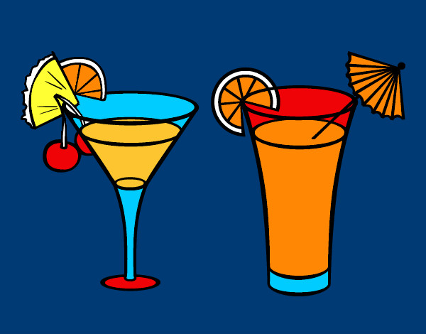 Coloring page Two cocktails painted bymack
