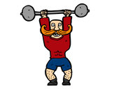 Coloring page Strongman painted bystacey