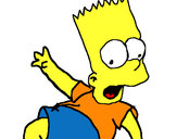 Coloring page Bart 2 painted bykaren