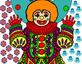 Coloring page Clown dressed up painted bysitatistik