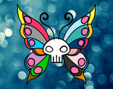 Coloring page Emo butterfly painted bypoppy