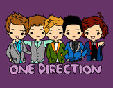 Coloring page One direction painted byJessie