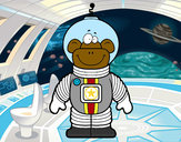 Coloring page Space Monkey painted byhivebees