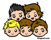 Coloring page One Direction 2 painted byjojo