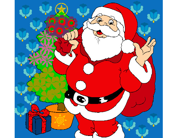 santa clause colored by jane on november 24 2012