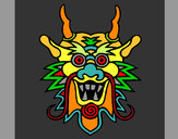 Coloring page Dragon face painted bymamarita