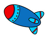 Coloring page Rocket in space painted byLivi