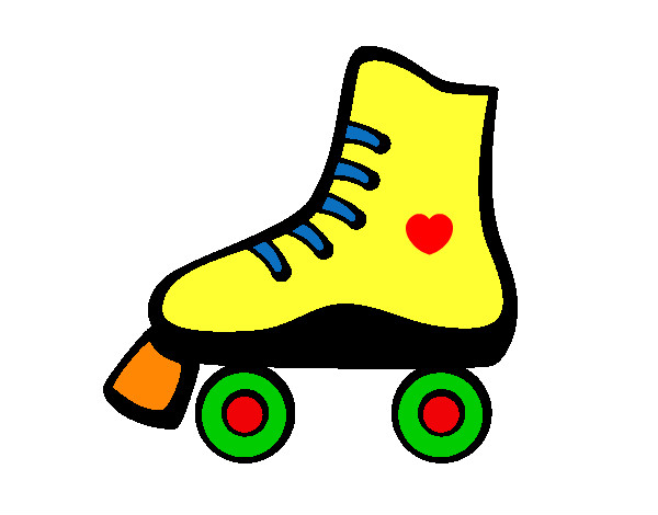 Roller Skating Coloring Pages Roller Skate Colored by Meghan