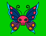 Coloring page Emo butterfly painted byGinger