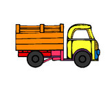 Coloring page Pick-up truck painted byjenifer