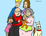 Coloring page Family  painted bylennon