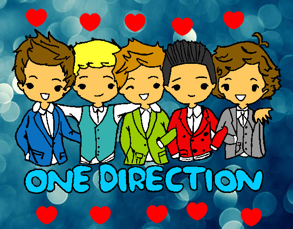 Coloring page One direction painted byabigail