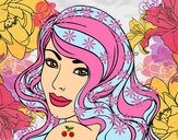 Coloring page Young girl painted bymolly