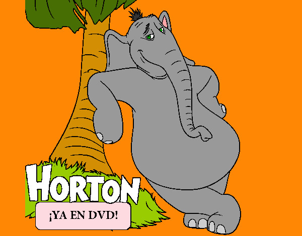 Coloring page Horton painted byArtIsLif3