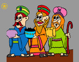 Coloring page The Three Wise Men painted byJustine