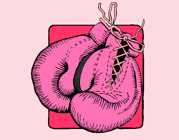 Colored page Boxing Gloves painted by penguin
