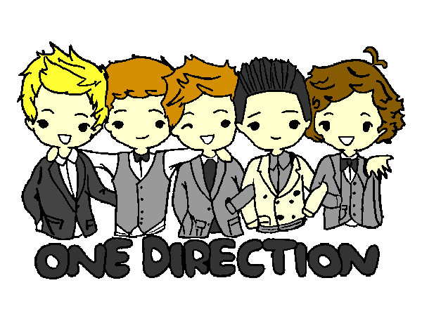 Colored Page One Direction Painted By Belen
