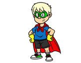 Coloring page Superboy painted byMatt