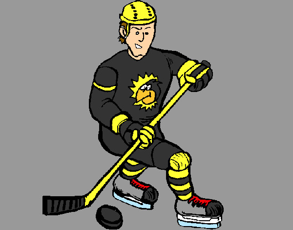 Coloring page Ice hockey player painted byNathan