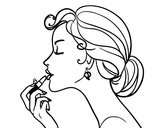 Coloring page Make up the lips painted bycarleylu16