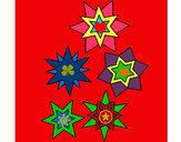 Coloring page Snowflakes painted byBeth