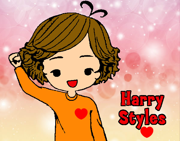 Coloring page Harry Styles painted byBlossom