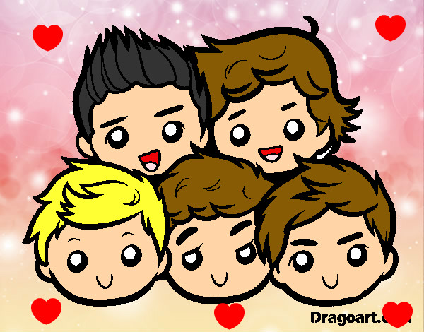 Coloring page One Direction 2 painted byBlossom
