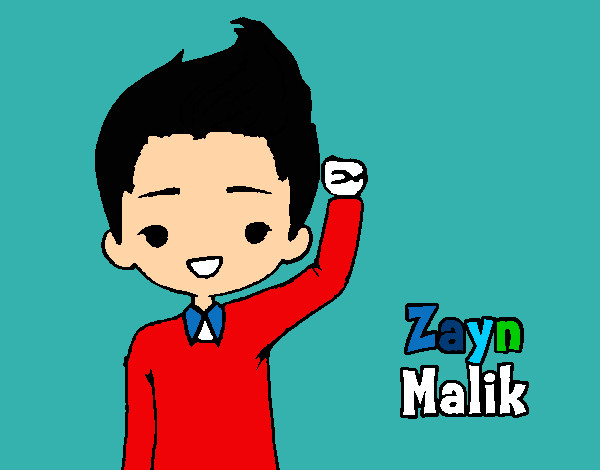 Colored page zayn painted by anny1d for Zayn malik coloring pages