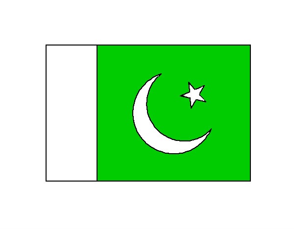 Colored Page Pakistan Flag Painted By John