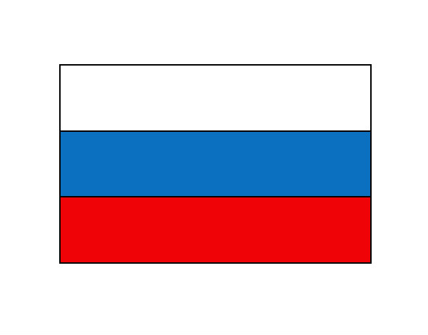 Colored Page Russia Flag Painted By John
