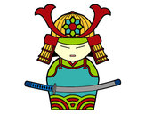 Coloring page Chinese Samurai painted byCindy
