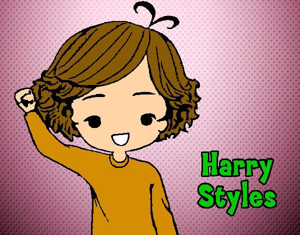 Coloring page Harry Styles painted bySarah52130