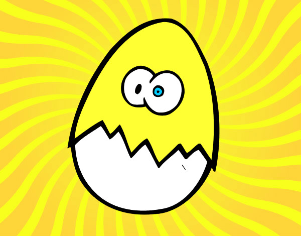 Coloring page Scared egg painted bySarah52130