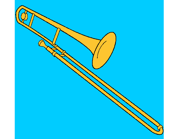 Coloring page Trombone painted bySarah52130