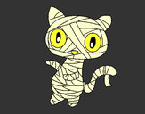 Coloring page Doodle the cat mummy painted byangel2425