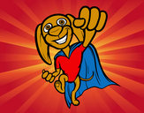 Coloring page Super-dog painted byDaisy1DLUV