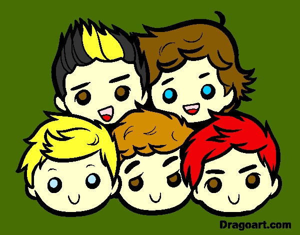 Coloring page One Direction 2 painted byMissy