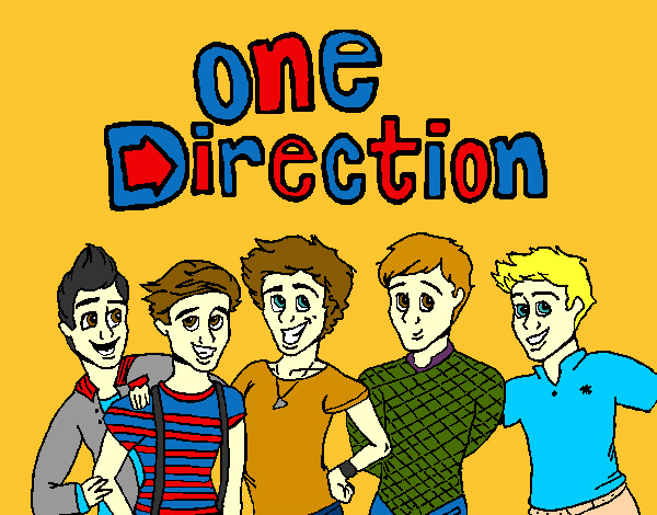 Coloring page One Direction 3 painted byMissy