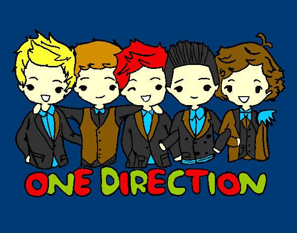 Coloring page One direction painted byMissy