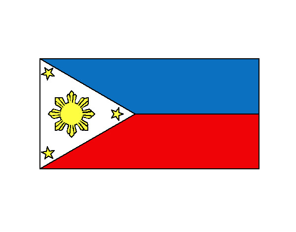 Philippines Flag Coloring Page Colored Painted By Jayn 12