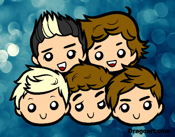 Coloring page One Direction 2 painted bySKW01