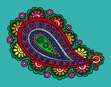 Coloring page Mandala teardrop painted byCassesque