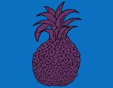 Coloring page pineapple painted byMANDALA