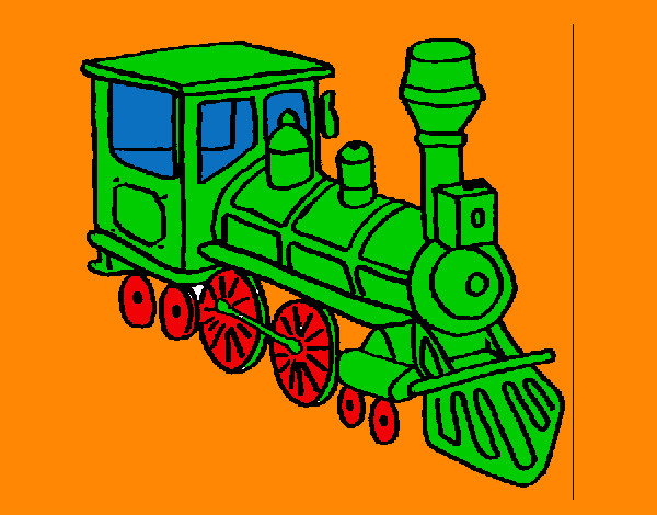 Coloring page Train 3 painted byMANDALA