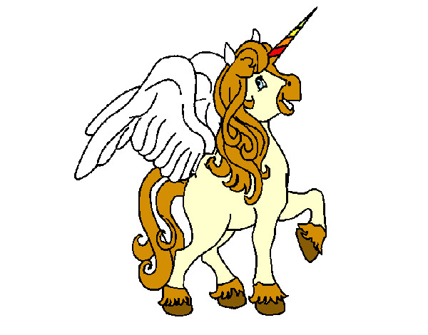 unicorn with wings pegasus coloring pages - Coloring Pages Unicorn Wings