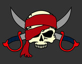 Coloring page Pirate symbol painted byjoshua06