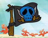 Coloring page Jolly Roger painted byJennyGore