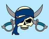 Coloring page Pirate symbol painted byJennyGore