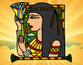 Coloring page Cleopatra painted bySherry
